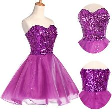 Short Teens Formal Prom Ball Gown Wedding Cocktail Party Evening Pageant Dress