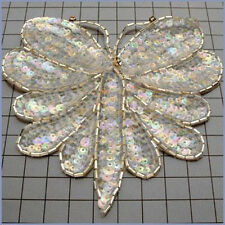 SEQUIN BEADED CRYSTAL IRIS BUTTERFLY APPLIQUE 0151-R