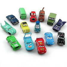 Set of 14Pcs Disney Pixar Cars Lightning McQueen Mater Sally Luigi Car Xmas Gift