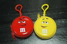 New 2014 Taiwan M&M's Coins Purse Earphone Holder Case - 1  Red + 1  Yellow
