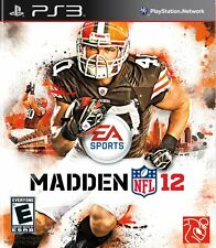 Madden NFL 12 2012 Video Game For SONY PlayStation 3 PS3 Console System