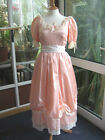 BRIDESMAIDS DRESS BO-PEEP 10 12 PEACH BALL GOWN PROM STAGE COSTUME BALLERINA