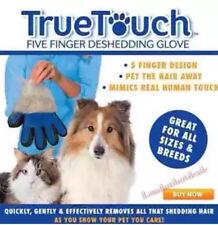 Verdadero toque Deshedding guante suave y eficiente para Mascota Perro Gato Animal Aseo RH