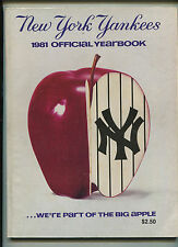 New York Yankees 1981 Official Yearbook  We're Part Of The Big Apple   MBX21
