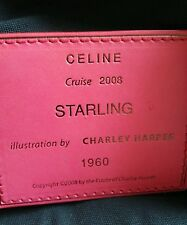 CELINE Coral Leather Cruise 2008 Starling Charley Harper Hobo Handbag