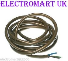 3 CORE GOLD LIGHTING CABLE FLEX WIRE 0.75MM 6 AMP PRICED PER METER