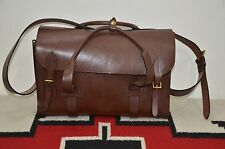 Ralph Lauren RRL Handmade in England Saddle Bridle Leather Doctor's Duffle Bag