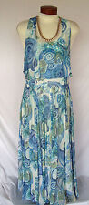 ELINETTE Denmark Sz 40 US 10 Sundress Romantic Fully Lined Maxi Dress EXC COND