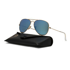 NEW Ray Ban RB 3025 Aviator Sunglasses 112/4L Gold Frame Polarized Blue Lenses