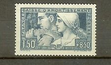 "FRANCE STAMP TIMBRE N° 252 "" CAISSE AMORTISSEMENT LE TRAVAIL 1928 "" NEUF xx SUP"
