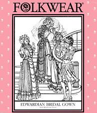 Folkwear Edwardian Bridal Wedding Gown & Afternoon Dress 6-16 Sewing Pattern 227