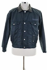 Diesel Mens Harrington Jacket Size 44 Small Navy Blue Polyester