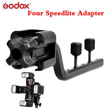 Godox S-FA Flexibly Universal Four Speedlite Flash Adapter Hot Shoe Mount