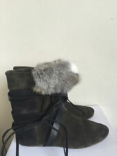 Isabel Marant  Nia suede,leather and fur boots 38EU 5UK