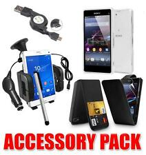 ACCESSORY BUNDLE KIT FOR SONY XPERIA Z3 COMPACT  + CASE CAR HOLDER CHARGER