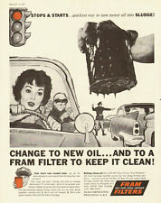 1959 vintage automotive ad, FRAM Filters, art by William George -040813