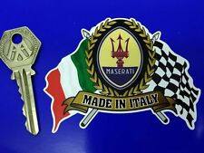 MASERATI Flags & Scroll classic sports car sticker etc Spyder Coupe 3200GT
