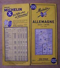carte MICHELIN 205 ALLEMAGNE DEUTSCHLAND GERMANY 1959