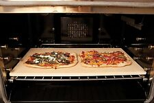 Large Baking Stone Bakeware Stoneware Big Pizza Bread Kitchen Grill Cookware New