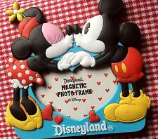 Disney Parks Soft Touch Magnetic Picture Frame - Mickey & Minnie Kiss