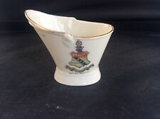 Crested China Bridlington Coat Arms East Yorkshire Knights Helmet Coal Scuttle
