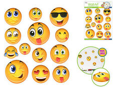 EMOJI 3D POP-UPS wall stickers 13 decals teen kid decor phone text face EMOTICON