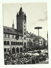 Swiss Broadcasting Corporation Radio QSL card, 1975, Market Place in Basle