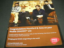 MUMFORD & SONS congrats in your double GRAMMY win 2013 PROMO DISPLAY AD