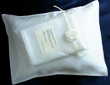 100% silk pillowcase travel 12x16 pillow case Natural White by Feeling Pampered
