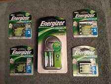 ENERGIZER BATTERY CHARGER CHVCWB w/10-AA & 8-AAA Batteries SET $42 (Free S&H)