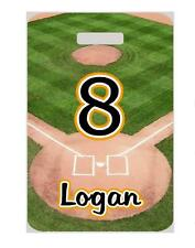 BASEBALL BAG TAG Personalized Great for Teams Sports Duffle Bags Backpacks