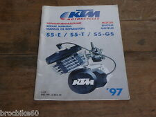 MANUEL REVUE TECHNIQUE D ATELIER MOTEUR KTM 50 SXR 1997 -  REPAIR MANUAL ENGINE