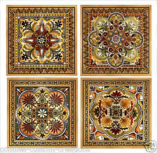 "Italian Renaissanc Design Kitchen Backsplash Ceramic Custom Accent Tiles 6"" New"