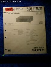 Sony Service Manual SEQ H3800 Graphic Equalizer  (#2410)