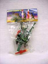 Vintage 1960's Howitzer Rocket Cannon and two Soldiers  Fires Missile