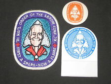 1981 NOAC  Celluloid Button, Name Tag Holder and Pocket Patch        j15