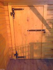 2 Winkelbänder mit Türriegel  Winkelband Türband 300 x 340 x 50 mit Kloben 16 mm