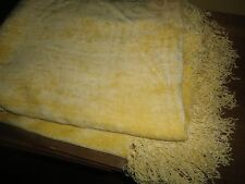 BRENTWOOD ORIGINALS SMOOTH YELLOW CHENILLE THROW BLANKET RAYON 64 X 54