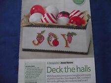 DECK THE HALLS EVERGREEN BOUGHS & BAUBLES CHRISTMAS ALPHABET CROSS STITCH CHART