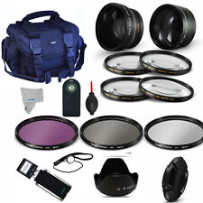 58MM WIDE ANGLE LENS + TELEPHOTO ZOOM LENS + PRO KIT FOR CANON EOS REBEL T5 T5I