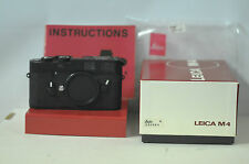Leica M-4 Black/Chrome Wetzlar Body with Cap & Box