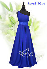 Charming Chiffon One Shoulder Lilac Gown Evening Wedding Party Bridesmaid Dress