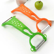 Plastic Vegatable Slicer Cutter Peeler Potato Apple Fruit Kitchen Utility Tool