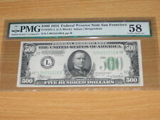 1934 $500 Five Hundred Dollar Bill - PMG 58 Choice About Uncirculated Note