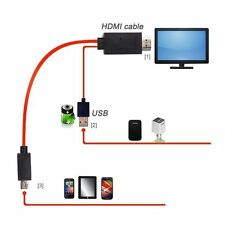1080P MHL Micro USB to HDMI HDTV ADAPTER CABLE LEAD SAMSUNG S4 I9500 S5 Note 2 3