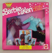1991 Barbie & Ken Doll Fashion Outfit 2972/73 Great Date Party Look NOS NRFB MIB
