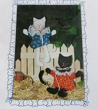 "Sew Special Miss Mew Kitty Cat Bean Bag craft pattern 7"" stuffed toy Vtg 80s"