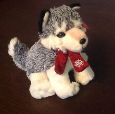 20cm CUDDLY KEEL SIBERIAN HUSKY SOFT TOY GIFT CHRISTMAS PRESENT HUSKIES CHILDS