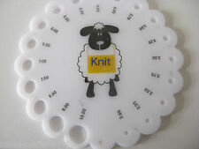 sheep knitting needle size gauge round sizer sizing Metric 2 -10mm