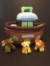 BibleToys.com Noah's Ark Plush With 3 Stuffed Animals